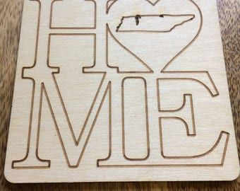 TN Home Wooden Coasters