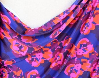 Colourful Floral Satin