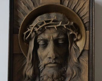 Jesus in a crown of thorns
