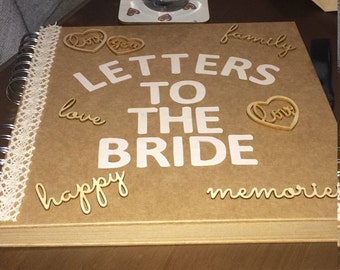 Letters to the bride scrapbook
