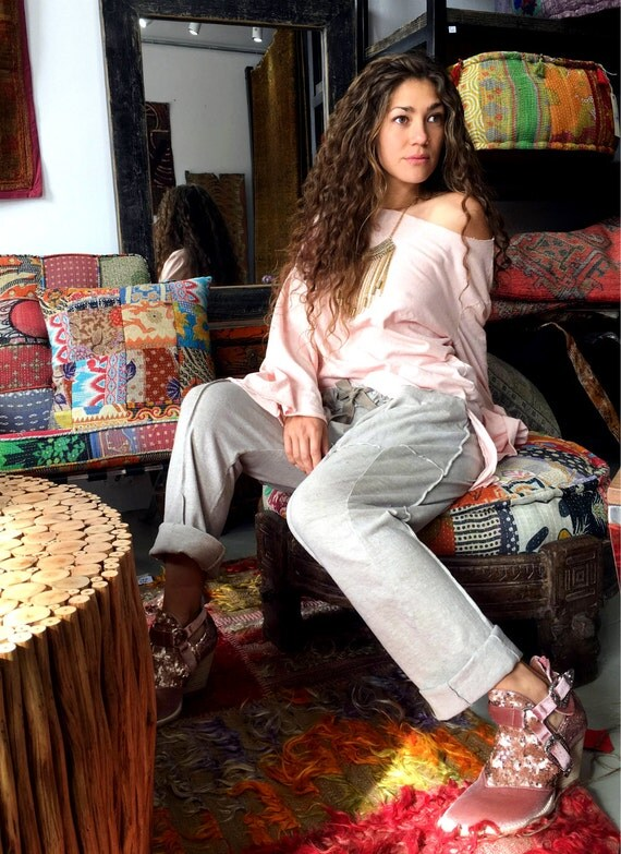 Hemp pants custom made and hand dyed // organic clothing // eco-friendly // hemp clothing // harem pants