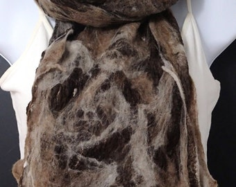 Merino and Silk Cobweb Scarf or Wrap (free US ship)