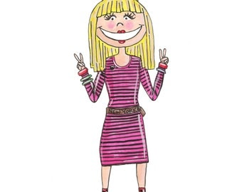 Little Betsey Johnson Illustration