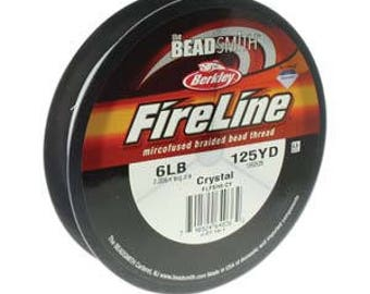 Fireline, 6 LB, 125 yard spool, Crystal