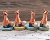 Custom-Made Fox Figurine and Ring Holder - 3-4 Weeks for Delivery