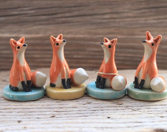 Custom-Made Fox Figurine and Ring Holder - 3-4 Weeks for Delivery - Mother's Day