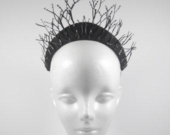 Black Metal Queen Tiara - by Loschy Designs
