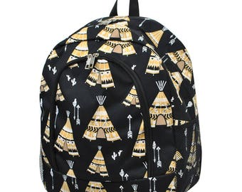 TeePee Backpack - Personalized Backpack - Monogrammed Backpack - Boy Backpack - Diaper Bag Backpack - Boy Diaper Bag - Includes Embroidery
