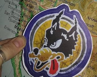 """Jerry Garcia """"Wolf"""" Sticker- Vinyl Decal"""