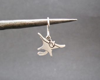 Flying Squirrel Earrings - Sterling Silver Squirrel Earrings