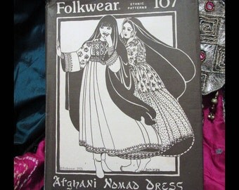 AFGHANI NOMAD DRESS Folkwear Clothing Pattern 107 ©1976 | Adjusted to Fit All Sizes | Uncut Pattern, Sewing Instructions, Embroidery Designs