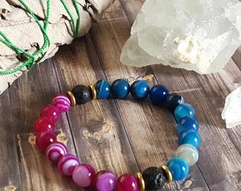 Essential Oil Diffuser Bracelet, Stackable Gemstone Bracelet, Healing Gemstone Jewelry, Beaded Bracelet, Essential Oil Bracelet