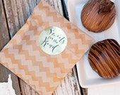 """Gold Foil """"Sweets for the Road"""" Stickers - Wedding Favor Stickers - Wedding Candy Buffet - Candy Favor Stickers-  24 Stickers"""