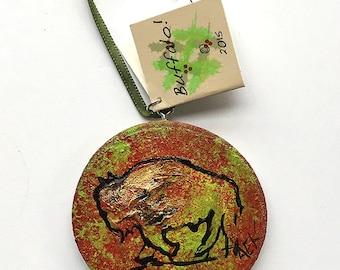 Buffalo Ornament - Christmas Ornament - Hand Painted Bison Ornament - Buffalo NY - Buffalo Gift - Buffalove
