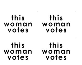 instant download postcard this woman votes