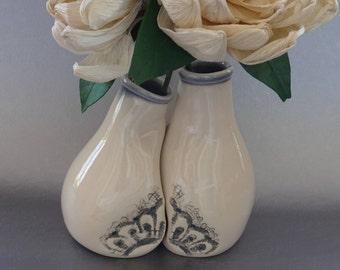 Romantic Vase Set, Unique Romantic Gift, Handmade Pottery / Ceramics