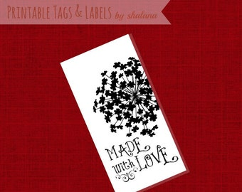 Printable PDF Tags or Labels - Made with Love