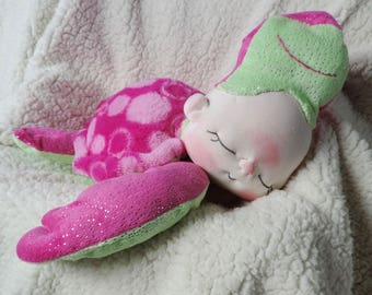 The Thrift Store BeBe Baby Pink Sea Turtle for Charity Adopt Him To Help US Schools Fundraiser Artist