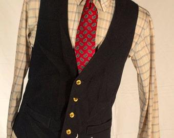 Men's Vest/Waistcoat / 44 Vintage Vest / Size 44 Large - XL // #4005
