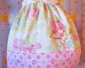 Strawberry Shortcake sweet lolita skirt, 80s retro kawaii fairy kei size large L