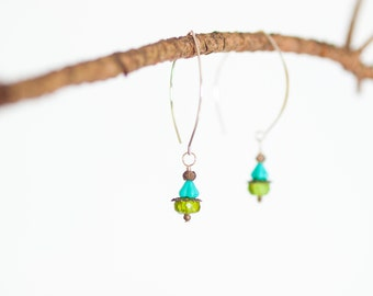 Threader Earrings Lightweight Boho Earrings Dangle Earring Drop Earring Semiprecious Boho Jewelry Best Friend Gift for Her Gift for Bride