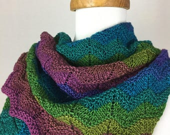Multi-color Merino Shawl/Scarf