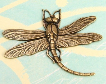 Antique Gold Dragonfly Pendant, Trinity Brass, AG69