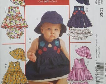 McCalls M5567 Sewing Pattern for Baby Top, Bottom and Hat