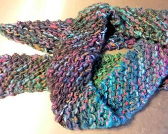 Hippie Boho Stary Twilight  Knit Scarf