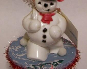 Vintage Snowman Christmas Gift Box