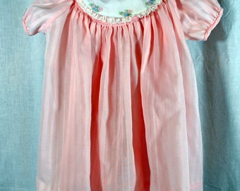 Vintage Sears Pink Baby Dress - Size 18 Months