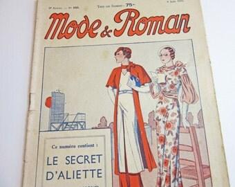 1930's Vintage French Magazine Mode et Roman June, 1934 Fashion, Sewing & Knitting