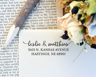 Address Stamp with Wood Handle - Customized Stamp - Return Address Stamp - Wedding Gift - Housewarming Gift