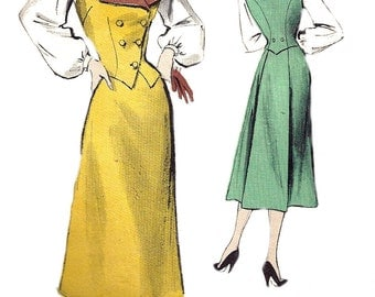 1950s Skirt Pattern Weskit Blouse Vest Butterick Vintage Sewing Junior's Women's Misses Size 11 Bust 29 Inches