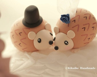 Hedgehog ,porcupine Wedding Cake Topper