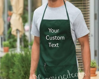 Custom Apron, Bakers Apron Birthday Gift, Housewarming Gift, Embroidery by Bloomingdeals Gifts Under 20 Dollars