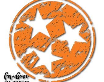 Distressed State of Tennessee Tri-Star SVG, EPS, DXF, png, jpg digital cut files for Silhouette Cricut Tn Rocky Top Grungy See Warning Below
