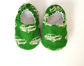 Baby Shoes, Baby Moccasins, Childrens Indoor Shoes, Cars