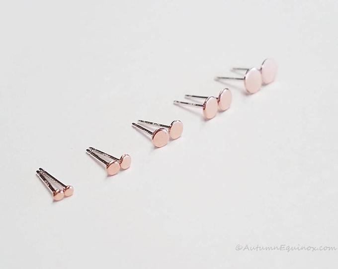Stud Earrings 14k Rose Gold Filled
