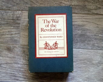 Revolutionary War Books, 2 Volume Set with Original Box, The War of the Revolution by Christopher Ward, 1952 American Revolution Hardcovers