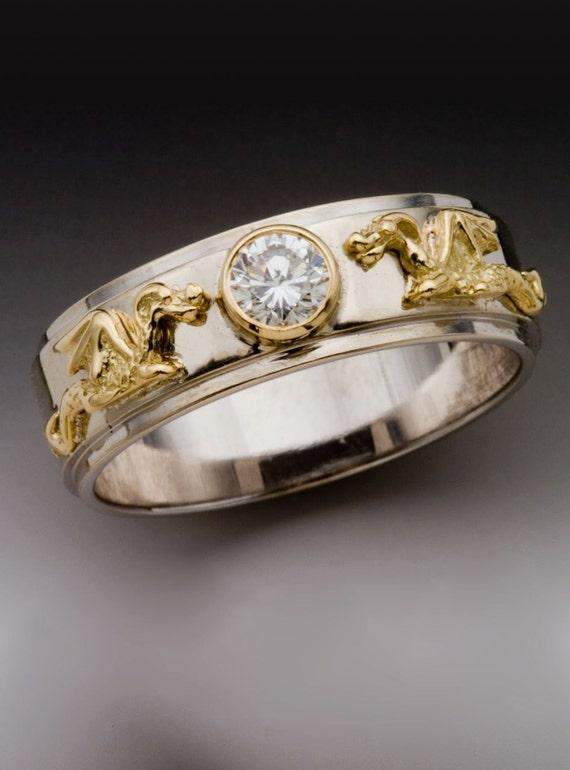 Dragon Ring Gold Wedding Ring Diamond Ring Eternity Dragon Band with Diamond Ring Dragon Jewelry Eternity Ring Promise Ring Engagement Ring