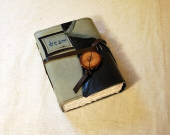SUMMER SALE:  Dream Leather Journal with Handmade Paper-Medium