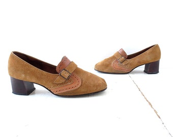 Vintage 60s Shoes | Mod Suede Shoes | 1960s Shoes | Size 9