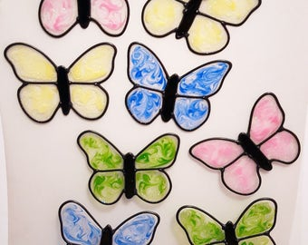 Butterfly Shimmer Window Cling Set