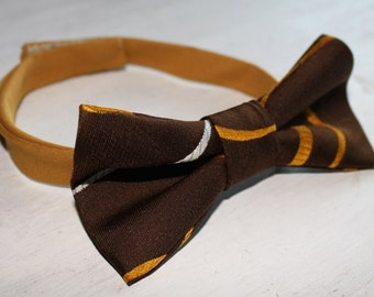 Cat Bowtie – Retro Brown and Gold