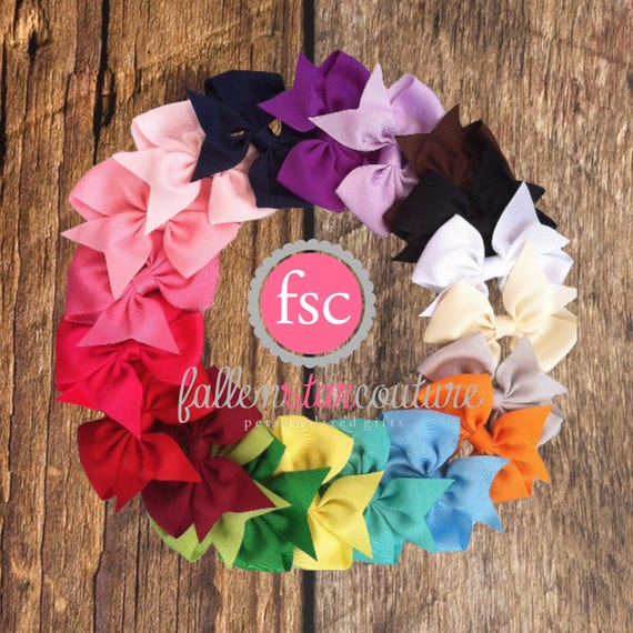 BEST SELLER 1.00 Hair Bows / 4 Inch Bows / One Dollar Bows /You Pick How Many / Infant bows, toddler bows, girls bows
