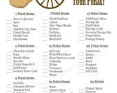 Instant Download - What's In Your Purse Shower Game - Western Cowboy Hat - Printable PDF
