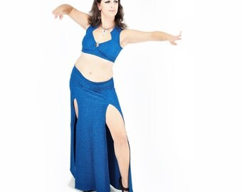 Belladonna Skirt - Ocean Blue Sparkle