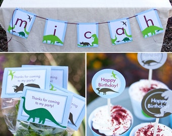 Dinosaur Dig Birthday PRINTABLE Birthday Party Collection - You Customize EDITABLE TEXT >> Instant Download | Paper and Cake