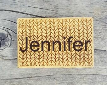 Name Tags: Custom Magnetic Badges for Knitting, Crochet or Weaving